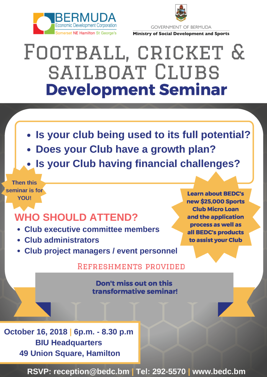 Sports Clubs Development Seminar Oct16,2018 FINAL