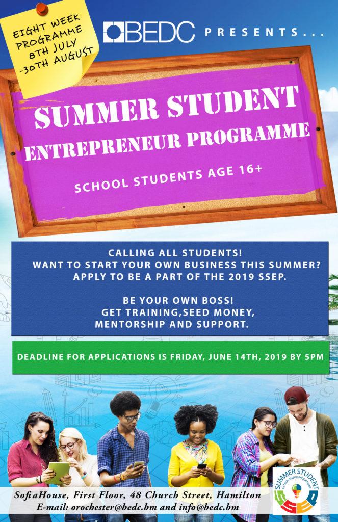 Summer Student Entrepreneur Programme (SSEP) Application