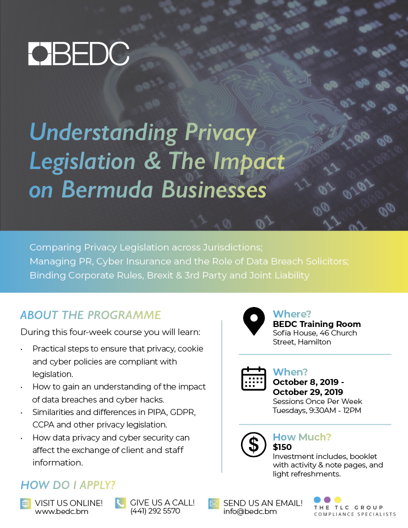 Understanding Privacy Legislation & The Impact on Bermuda Businesses